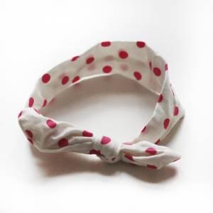 Bilde av Turban Hvit med rosa dots